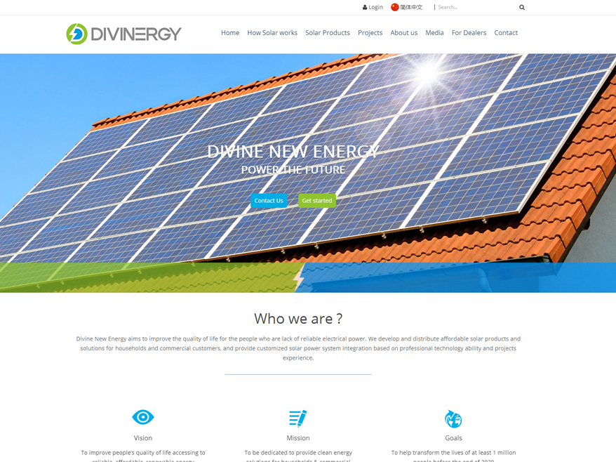 Divine New Energy English web design